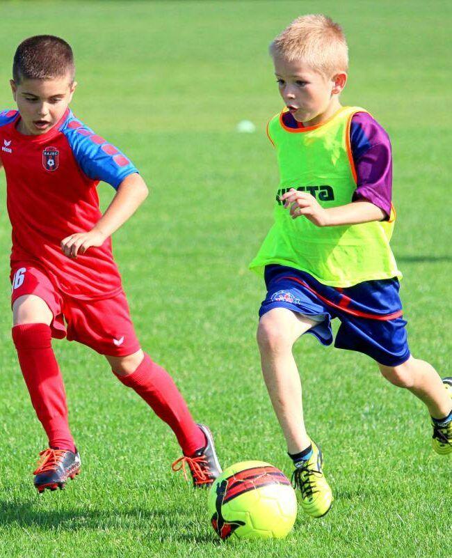 mali piłkarze grają na murawie