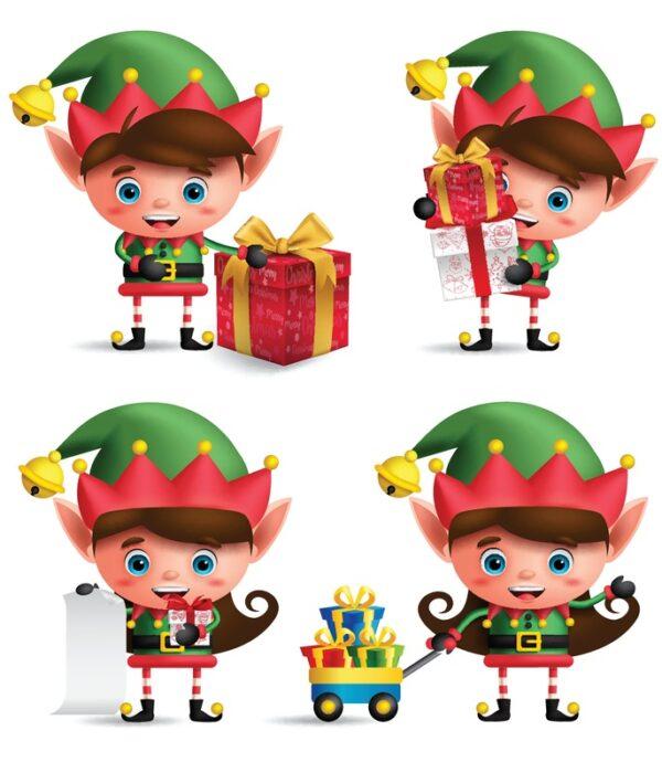 Elfy - pomocnicy świętego Mikołaja