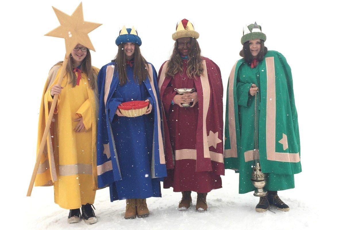 Kolędnicy - Trzej Królowie i gwiazda