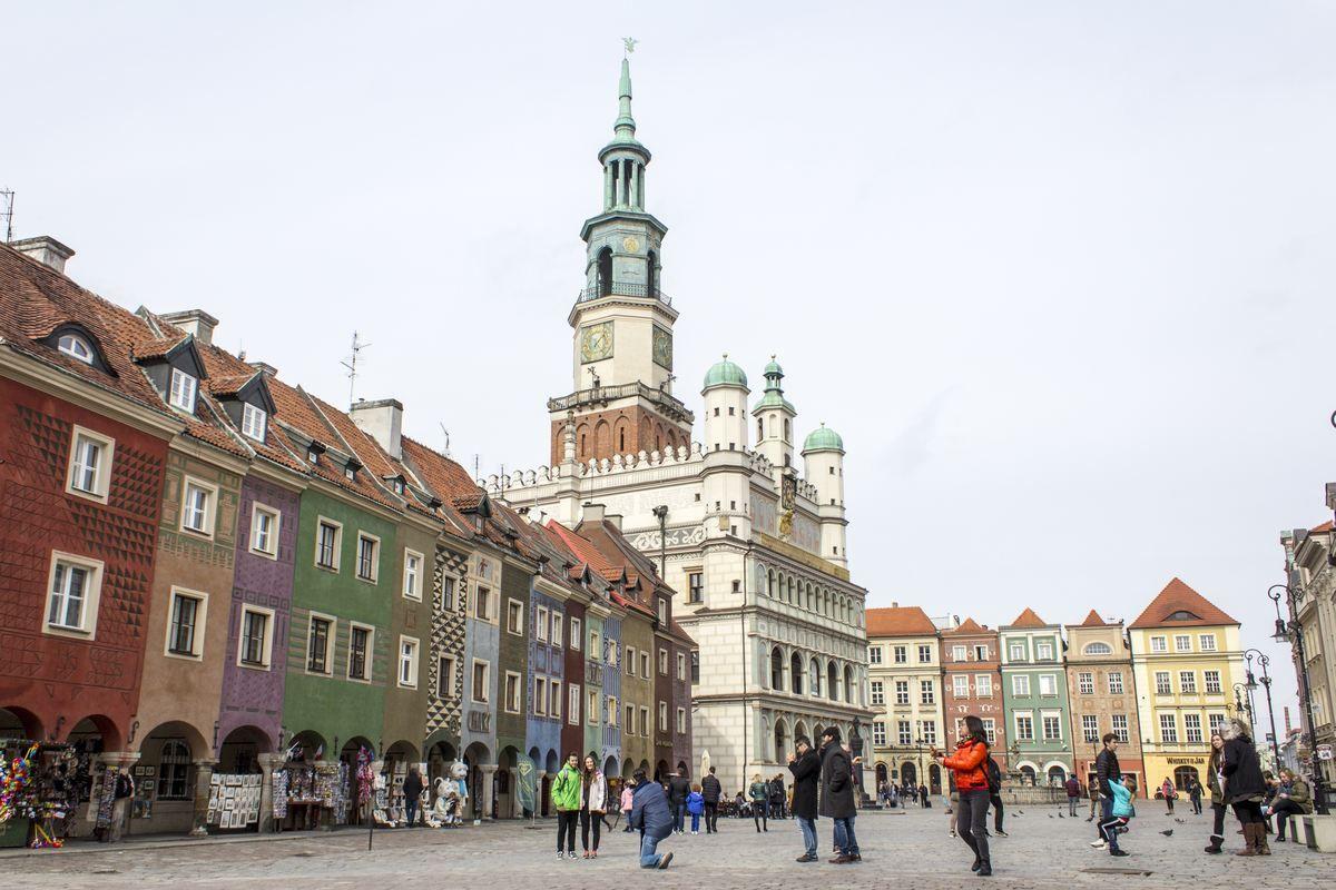 Poznań - rynek przed ratuszem