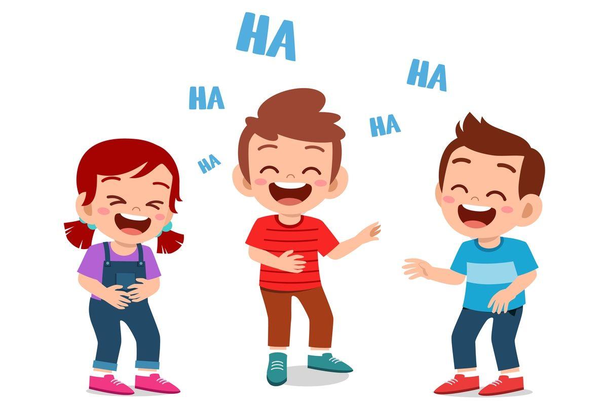 Śmiejące się dzieci - rysunek