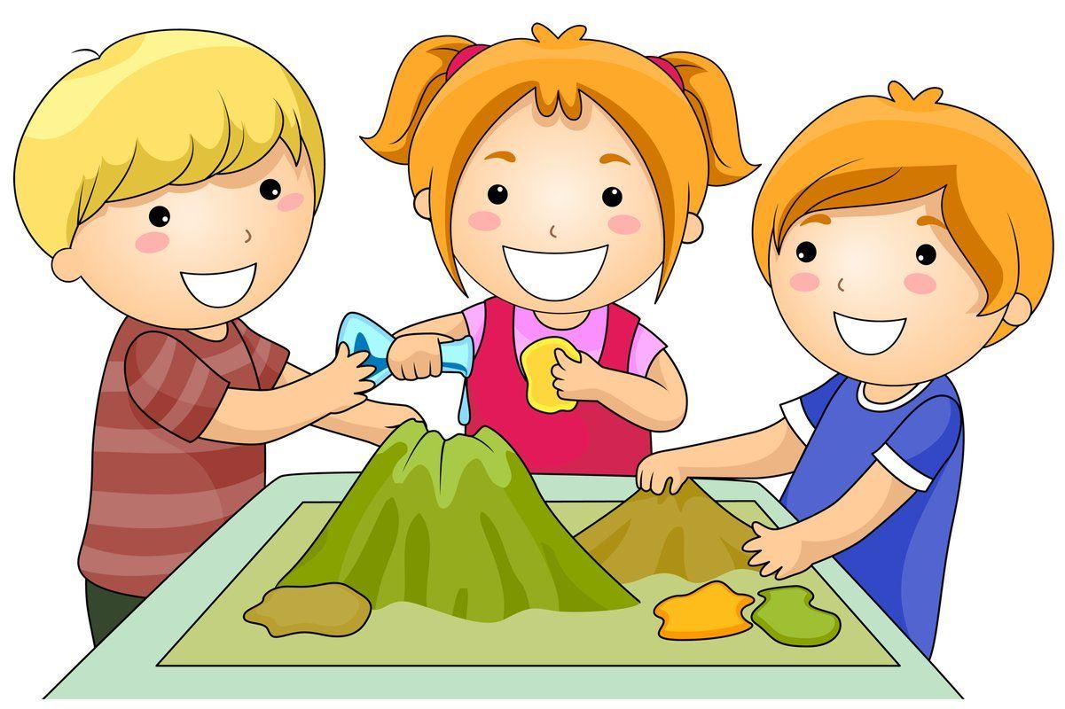 Dzieci robiące doświadczenie - domowy wulkan