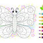 Matematyczna kolorowanka - motyl, dodawanie i odejmowanie
