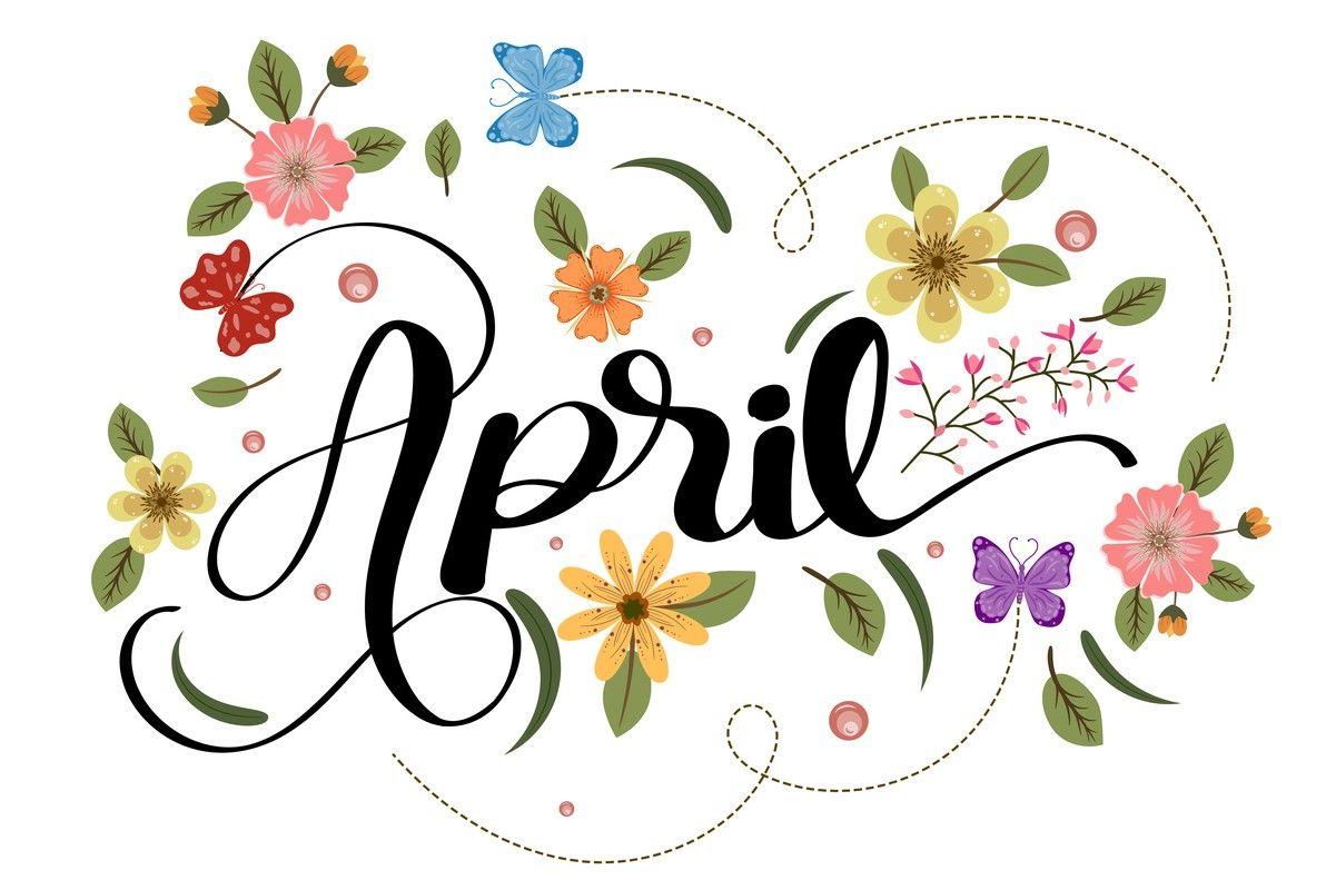 Kwiecień, kwiaty, motylki