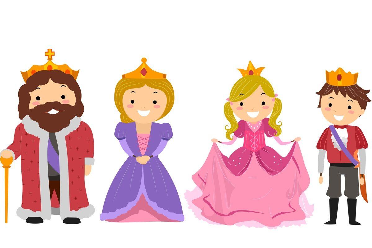 Królewska rodzina: król, królowa, królewna i królewicz