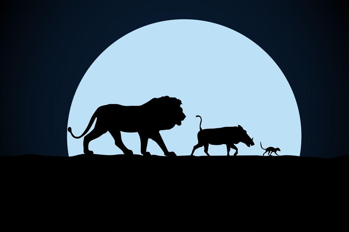 Postaci z króla lwa: Lew Simba, Timon i Pumba