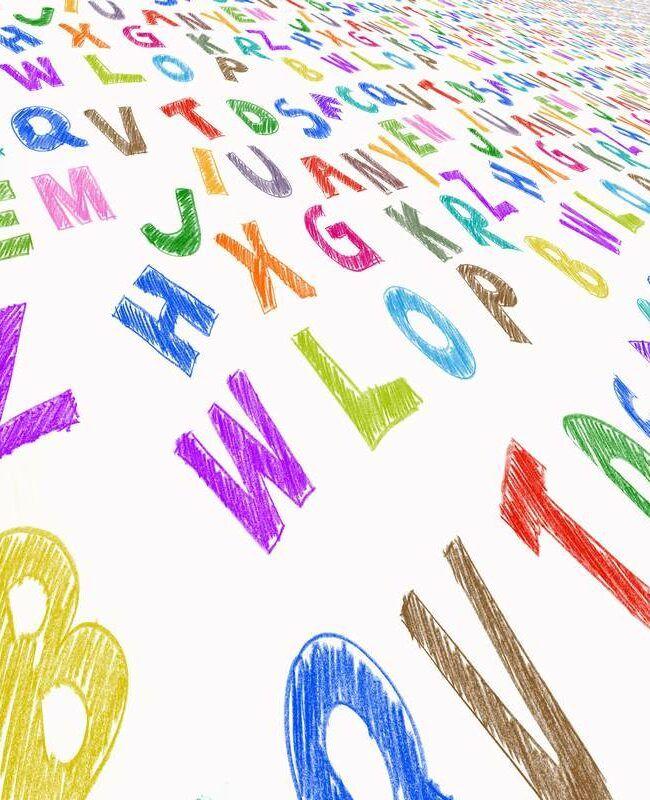 Kolorowe literki - głoski twarde